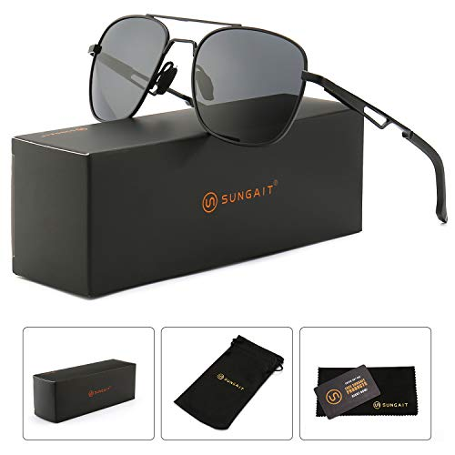 060306b044ce SUNGAIT Classic Polarized Aviator Sunglasses Men's Women's Vintage Sun  Glasses