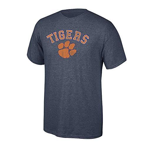 Elite Fan Shop NCAA Men's Clemson Tigers T Shirt Charcoal Vintage Clemson Tigers Charcoal XX Large