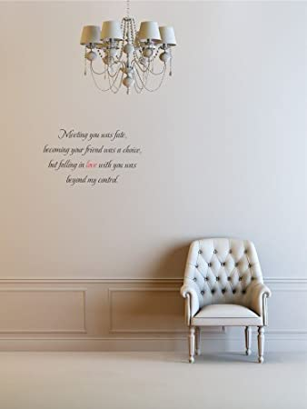 Amazoncom X Meeting You Was Fate Becoming Your Friend Was A - Vinyl wall decals bed bath and beyond