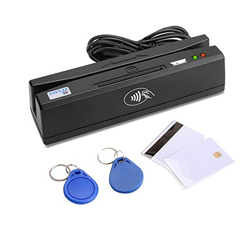 Pcsc Smart Card - ZCS160 USB PCSC 4 in 1 Magnetic Card Reader + EMV chip/NFC/PSAM Card Reader Writer only for APDU Command Professional Person