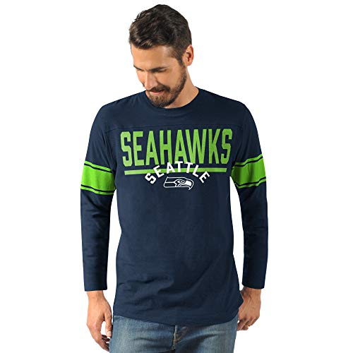 G-III Sports Seattle Seahawks Men's Champion Long Sleeve Fashion T-Shirt XX-Large