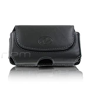 Brand New Black Color Horizontal Leather Cover Belt Clip Side Case Pouch For Boost Mobile HTC One SV LTE
