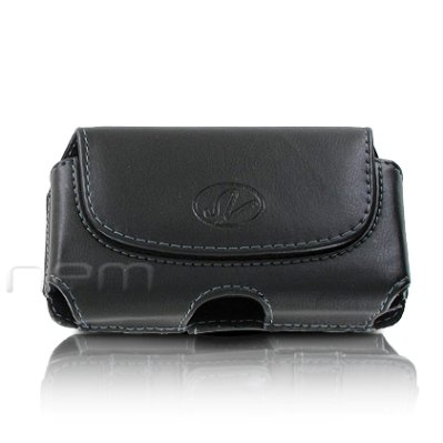 Brand New Black Color Horizontal Leather Cover Belt Clip Side Case Pouch For Alltel UMX MXC-628