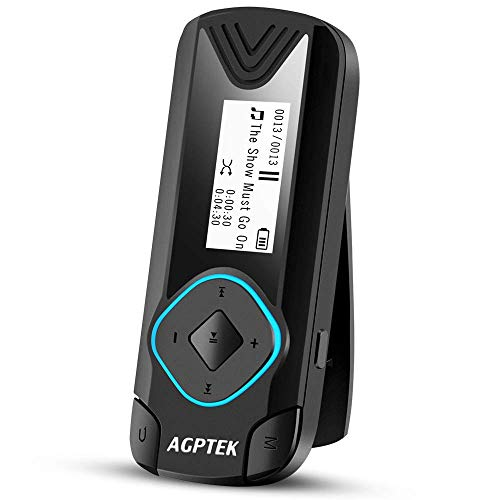 AGPTEK Clip MP3 Player 8GB Mini Digital Music Player for Jogging Running Gym, Supports up to 128GB, Black(R3) by AGPTEK