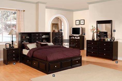 expresso bedroom set - 5
