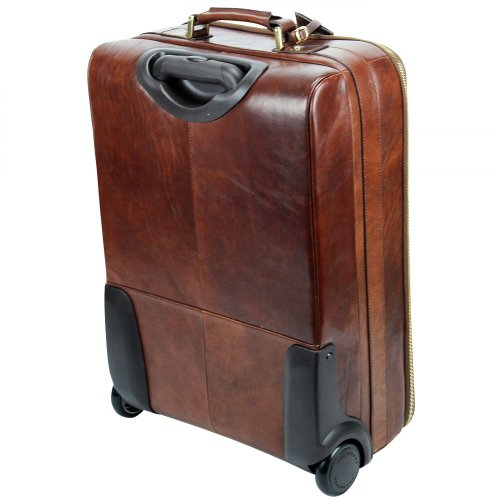 The Bridge Leather Hand luggage STORY VIAGGIO black Trolley ...