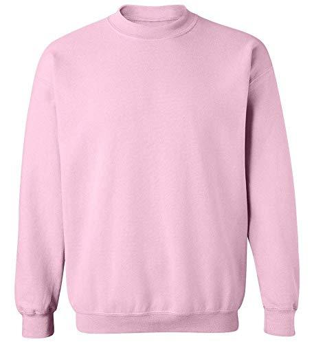Soft Crewneck Jumper - Joe's USA - Soft & Cozy Crewneck Sweatshirts, 5XL Light Pink