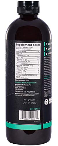 Onnit MCT Oil - Pure MCT Coconut Oil, Ketogenic Diet and Paleo Optimized with C8, C10, Lauric Acid - Perfect for Coffee, Shakes, and Cooking (Flavorless - 24oz)