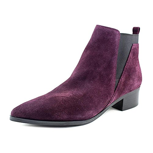 Ankle Womens Ignite Suede Fisher Pointed Marc Purple Boots Chelsea Toe YFpZqg