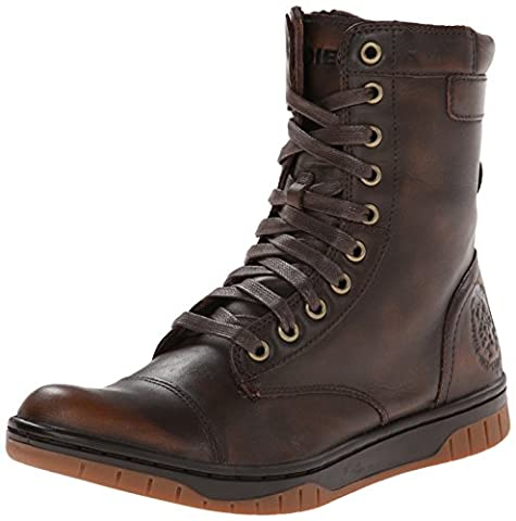 Diesel Men's Tatradium Basket Butch Zip Combat Boot, Coffee Bean, 11 M US (Men Diesel Top)