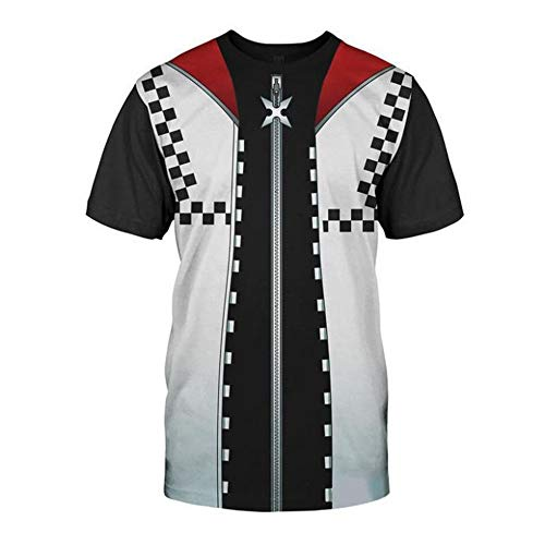 VOSTE Sora Roxas Costume Halloween Game Cosplay T-Shirt (Large, Color 3)]()