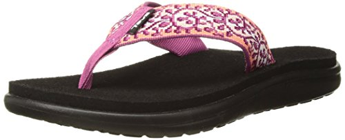 Teva Women's W Voya Flip Flop, companera Pink/Coral, 8 M - Pink Thong Classic