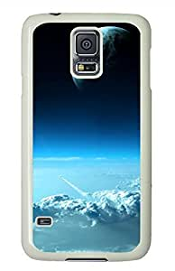 Beautiful Space View White Hard Case Cover Skin For Samsung Galaxy S5 I9600 by mcsharks