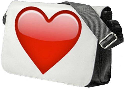 Borsa A Tracolla (nero) Di Cuore Borsa, Sidebag, La Borsa, Il Sacchetto Di Sport, Fitness, Zaino, Emoji, Smiley