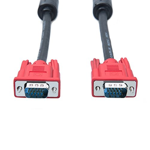 DTECH Full HD 1080P Computer Monitor VGA Cable 5 Feet with Dual Ferrite Cores Standard 15 Pin Male to Male VGA Wire