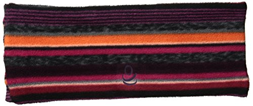 Cuddl Duds Women's Fleece and Flex Fit Ruched Headband, Berry Multi, One Size