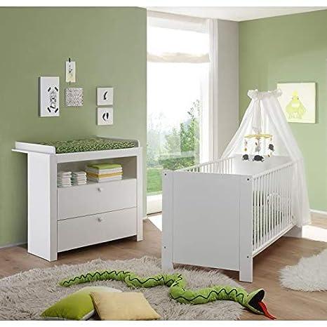 Ensemble lit bébé 70x140 cm et Commode avec Plan a Langer ...