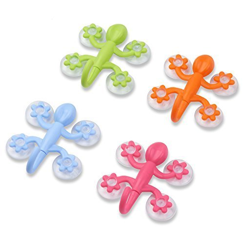 Gecko Power Lock Suction Hooks for Bathroom, Kitchen, and More (Gecko Hook)