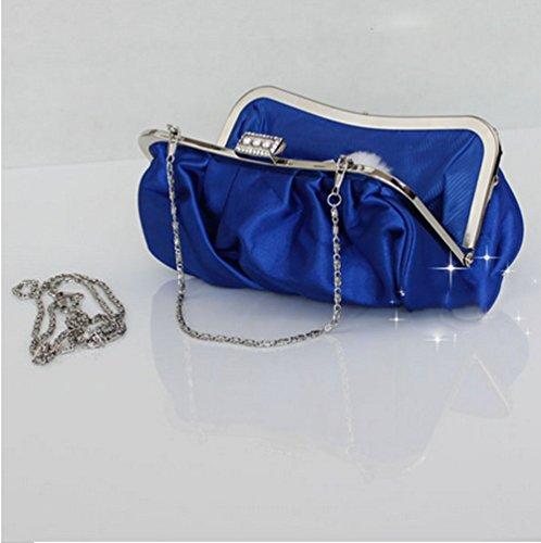 Raso Magnetica Donne Bag Fibbia Handbag Clutch Promenade Plissettato Wedding Sera Purple Bailiang Di Nuziale dIpqCRC