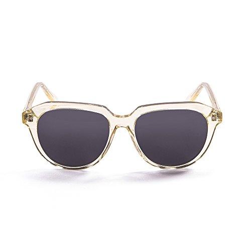 Ocean Sunglasses Mavericks Lunettes de Soleil Mixte Adulte, Transparent White Gold/Smoke Lens