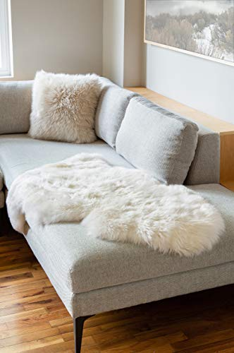 Sheepskin Wool Rug Throw - Overland Single-Pelt (2' x 3.5') Premium Australian Sheepskin Rug