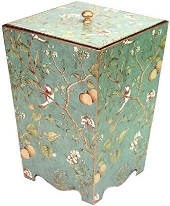 ゴミ袋 ゴミ箱用アクセサリ レトロなクリエイティブゴミ箱リビングルームベッドルームオフィスゴミ箱8L キッチンゴミ箱 (Color : A)
