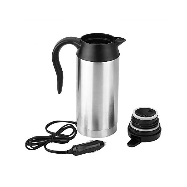 41sqGi7QesL 750 ml 12 V Wasserkocher, Auto Edelstahl Zigarettenanzünder Heizung Wasserkocher Becher Elektrische Thermoskanne zum…