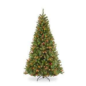 National Tree 7.5 Foot North Valley Spruce Tree with 550 Multicolor Lights, Hinged (NRV7-301-75) 116