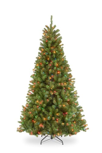 Pre Lit Christmas Trees Amazon - National Tree 7.5 Foot North Valley Spruce Hinged Tree with 550 Multicolor Lights (NRV7-301-75)