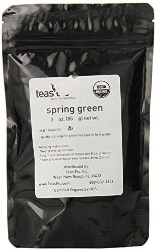 Teas Etc Spring Green Organic Loose Leaf Green Tea 16 oz.