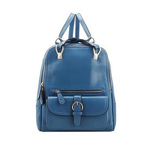 Zaino delle ragazze delle signore delle donne (26 * 11 * 30CM) (azzurro) di modo di tendenza delle donne dell'istituto universitario del sacchetto di spalla della borsa del sacchetto di spalla del sac