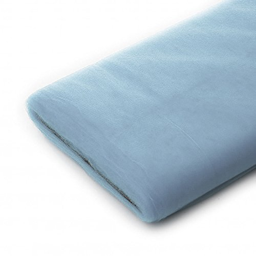 Tulle Fabric - 40 Yards Per Bolt (Light Blue)]()