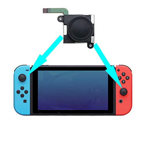Replacement Analog Joystick for Nintendo Switch Joy-Con, Cocotopmall Nintendo Switch Replacement Thumb stick Left and Right Analog Controller Gamepad 3D Rocker Rod Stick Replace Parts with Cap