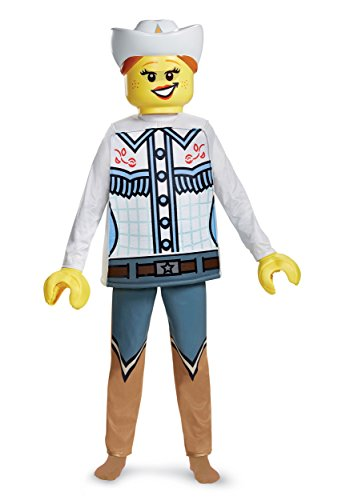 Disguise Lego Cowgirl Deluxe Costume, Multicolor, Large (10-12)]()