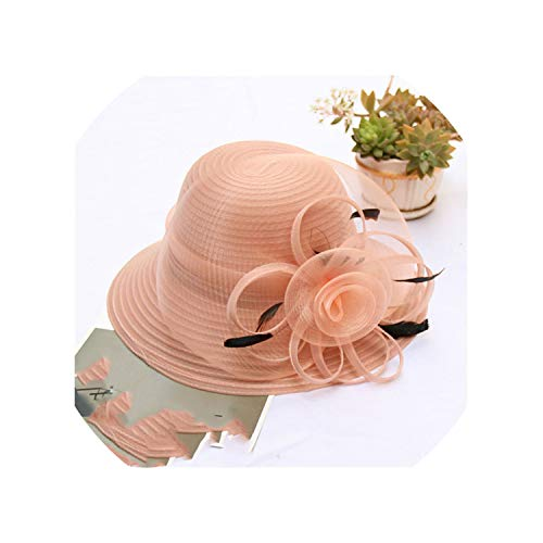 Minyu hat Summer Hats for Women Solid Satin Feather, used for sale  Delivered anywhere in Canada