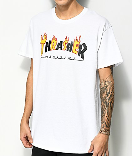 87c70fe54b3f Thrasher Flame Mag Short Sleeve Tee Shirt