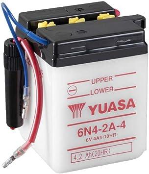 Motorrad Batterie Yuasa 6n4 2a 4 Dc Offen Ohne Säure 6v 4ah 71x71x96mm Auto