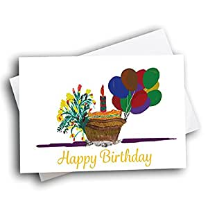 Assorted Boxed Birthday Greeting Cards Made From Children's Artwork. 50 Cards Pack, $5.00 Goes to School of Choice. Help Schools, Encourage Children's Creativity