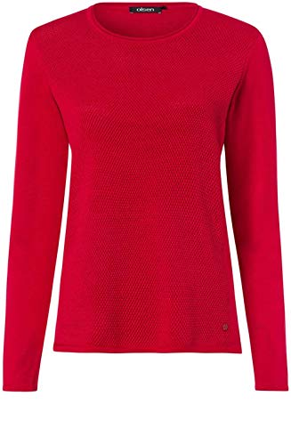 Lunga Poppy Maglione Manica Donna Red Olsen UqpcwEPE