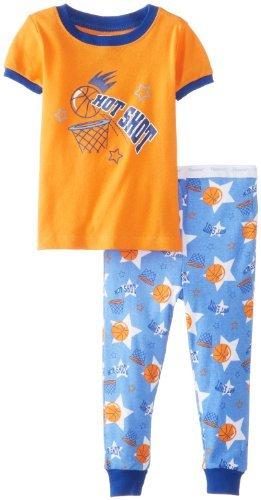 Vitaminas Bebé Bebé-Boys infantil Hot Shot 2 piezas Conjunto de pijama, Orange,