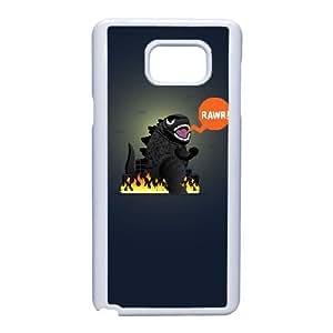 Funda Samsung Galaxy Note caja del teléfono celular 5 funda Y2Q3NE Godzilla Blanca