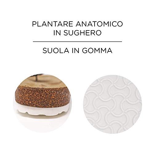 Clare Tinta Le Plantare Infradito Sughero anatomico in Donna Unita Nero con Lilly E4SrSwdFq