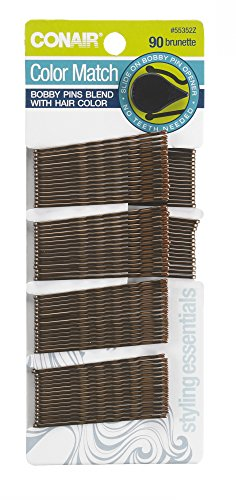 Conair Styling Essentials Bobby Pins, Brown, 90 ct.