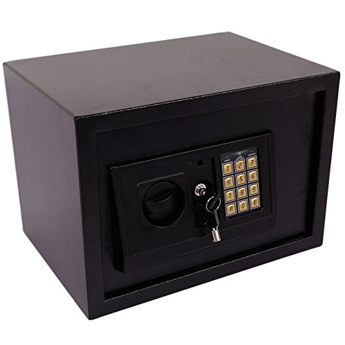 Leadzm Small Size Electronic Digital Steel Safe Strongbox,Theft Proof For Household Secret Office Travel Black by LEADZM