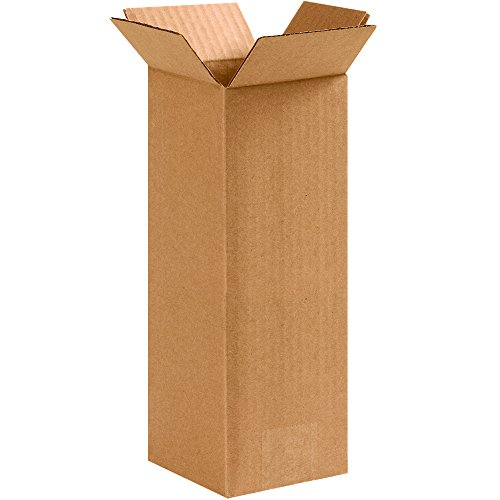 "Aviditi 4410 Corrugated Boxes, Tall 4"" x 4"" x 10"", Kraft (Pack of 25) from Aviditi"