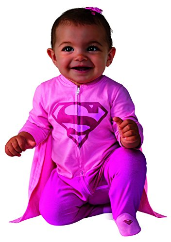 Family With Baby Halloween Costumes (Rubie's Costume Baby Girl's DC Comics Superhero Style Baby Supergirl Costume, Multi, 0-6 Months)