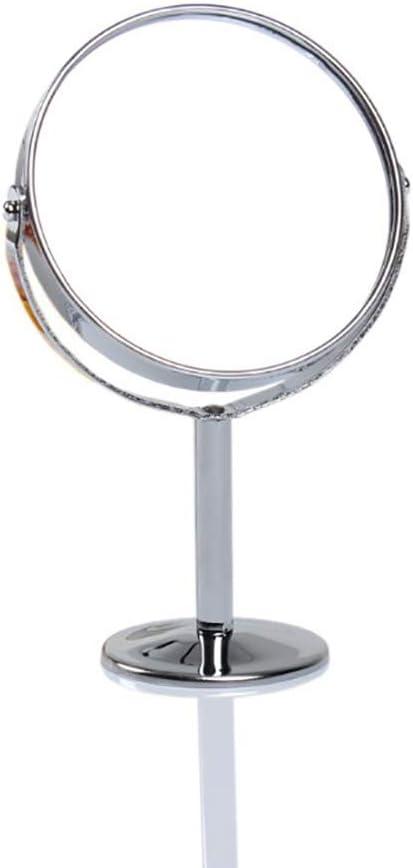 Vikenner Artículos para el hogar Espejo de Mesa Redonda de Metal ...