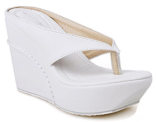 ada1172d1461 IDIFU Women s Sexy High Heels Wedge Platform Thong Sandals ...