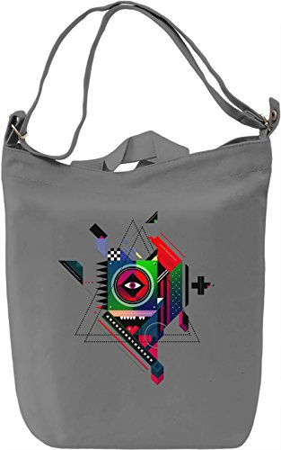 Illustrated eye Borsa Giornaliera Canvas Canvas Day Bag| 100% Premium Cotton Canvas| DTG Printing|