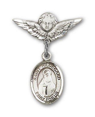 Icecarats Créatrice De Bijoux En Argent Sterling St. Hildegard Von Bingen Charme Ange Pin Badge 7/8 X 3/4